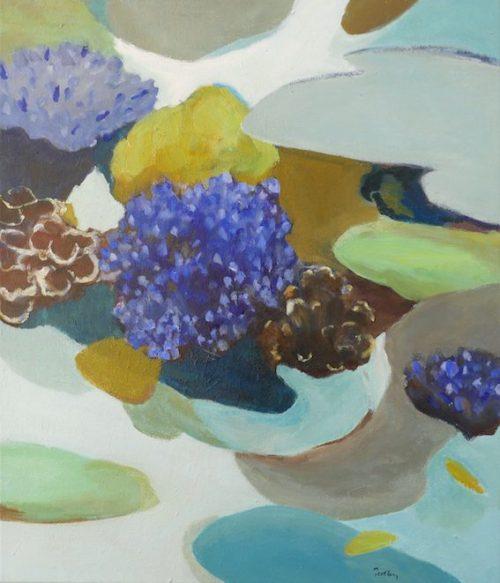 underwater landscape, sapphire reef, artist robyn pedley, bobbie p gallery
