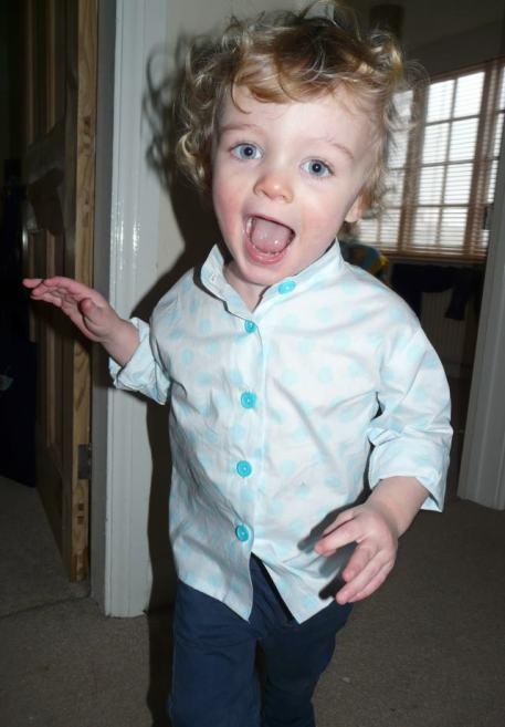 boy shirt Bobbins and buttons