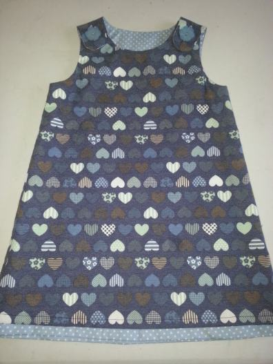 denim pinny bobbins and buttons