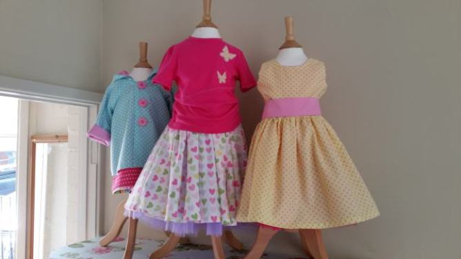 dresses bobbins and buttons