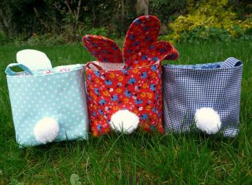 easter bunny back bobbins and buttons