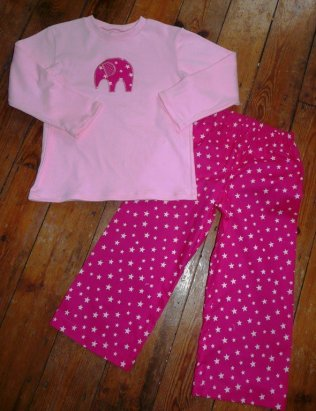 girl pjs bobbins and buttons