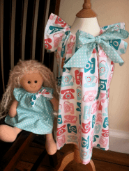 matching doll bobbins and buttons