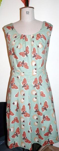 moth dress bobbins and buttons
