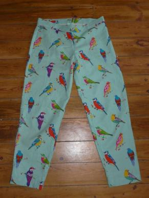 parrot trousers bobbins and buttons