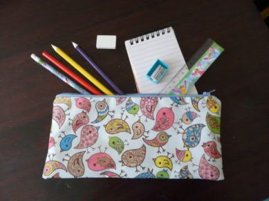 pencil case Bobbins and buttons