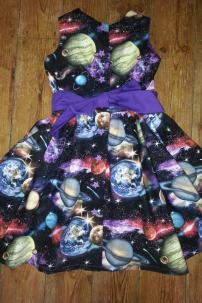 space dress reverse bobbins and buttons