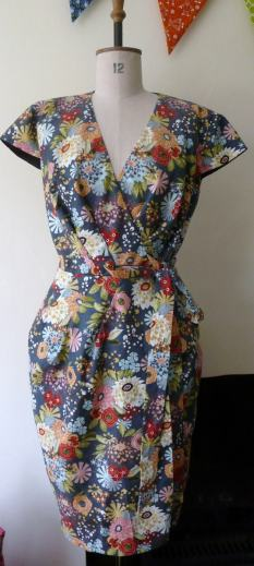 wrap dress bobbins and buttons