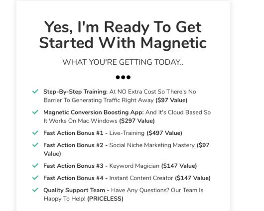 magnetic bonus