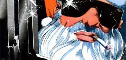 Gun-Toting Santa. Kyle Baker 1986. The Spectacular Spider-Man #112