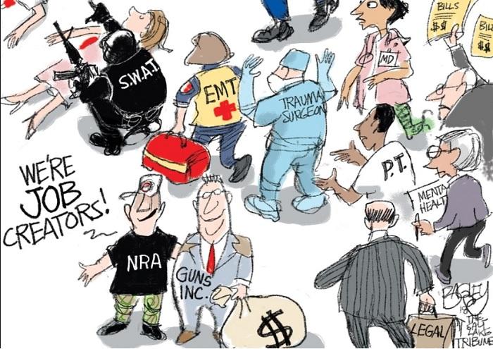 NRA and Gun Manufacturer boasting,