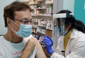Bob getting 2020 flu shot