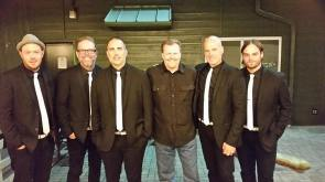Bob Dutko with 'Mercy Me' Backstage at The DTE Energy Theatre