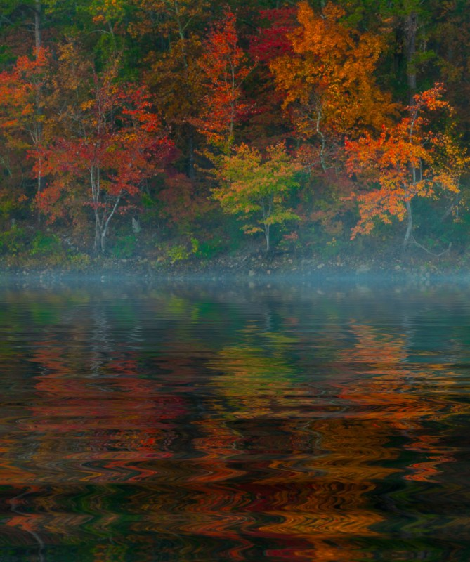 10036. Autumn foliage, Lake Maumelle, Arkansas