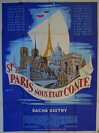 """Affiche pour """"Si Paris nous était conté"""" par Guy-Gérard NOEL (1956)"""