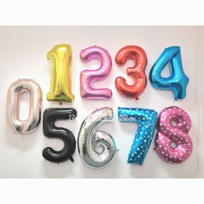 40 inch Jumbo Foil Number Balloons – Classical Black