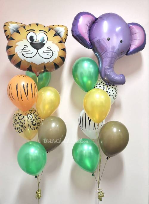 [Animal] 39inch Safari Animal Foil Balloons - Ellie the Elephant