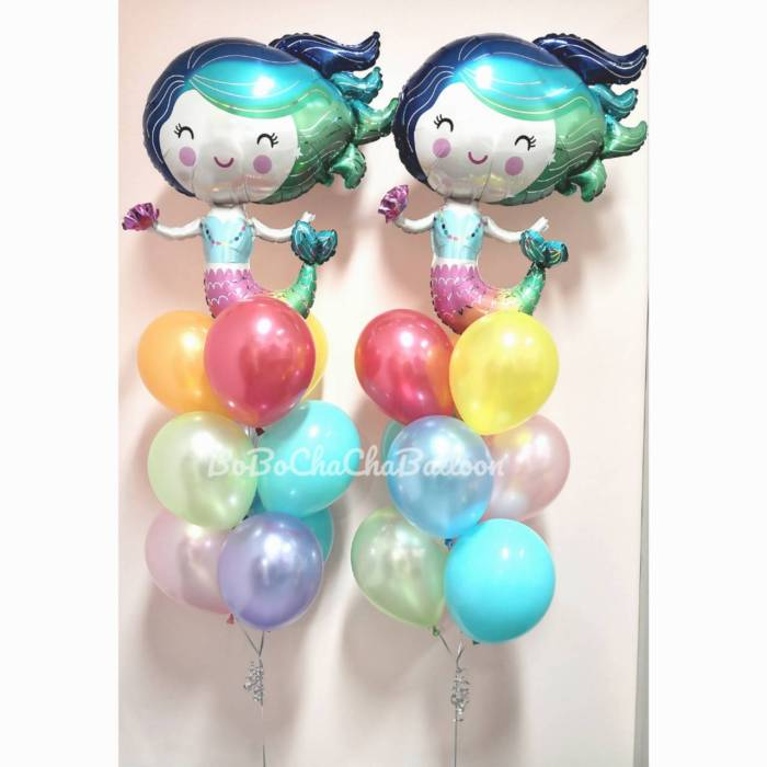 [Mermaid] 30inch Colourful Mermaid Foil Balloons