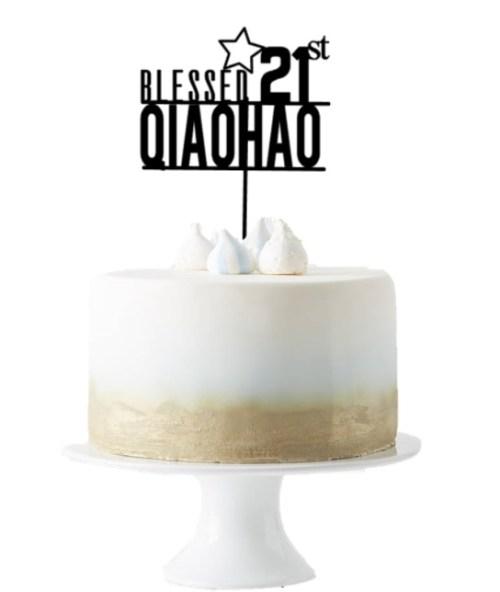 [Cake Topper] Blessed Custom Age & Name