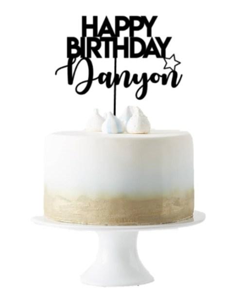 [Cake Topper] Happy Birthday Design 2 Custom Name