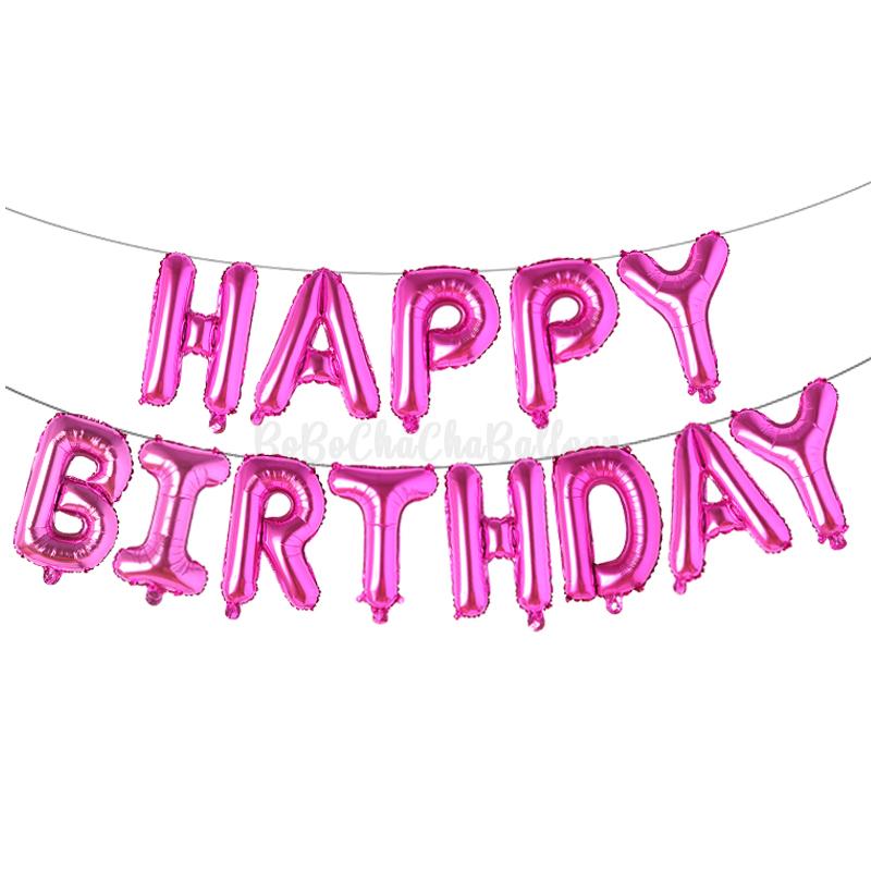 16 Inch HAPPY BIRTHDAY Letter Foil Balloons Banner