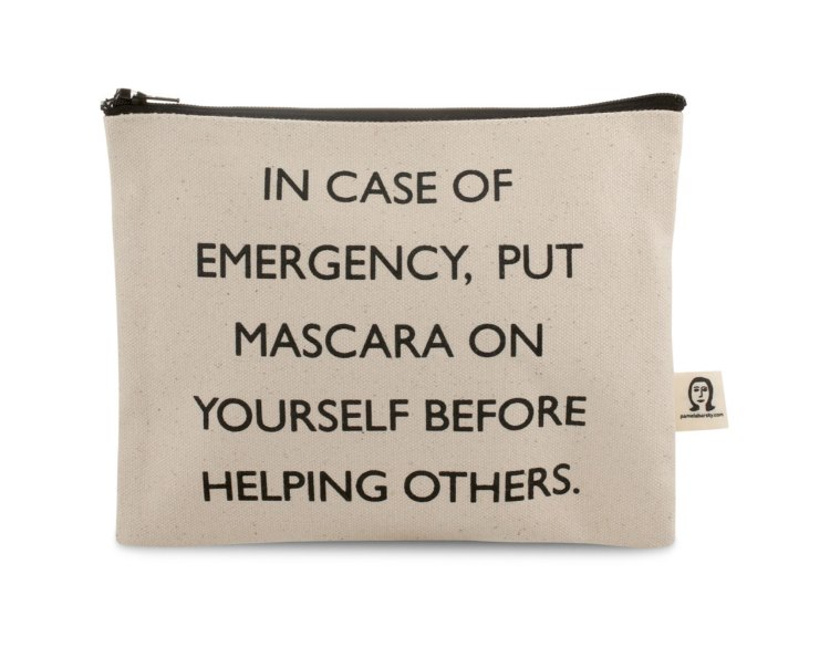 In case of emergency, put mascara on yourself before helping others