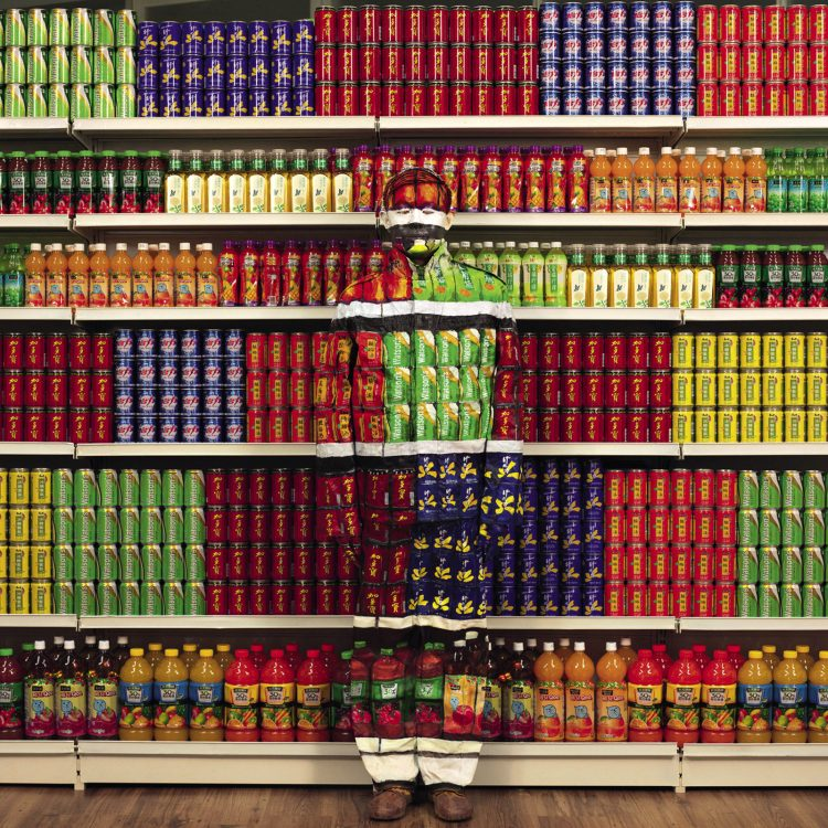 "Liu Bolin, ""Soft Drinks"", 2013. Courtesy: Boxart, Verona"