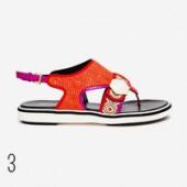 sporty sandal Infradito in raffia bicolore, Nicholas Kirkwood shoporama.it per bobos