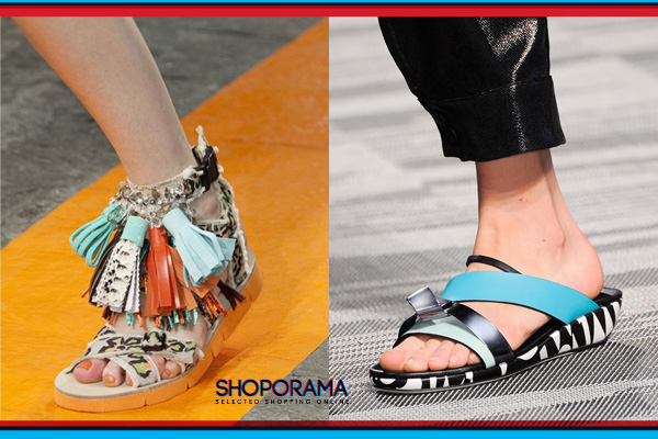 sporty sandal missoni e msgm shoporama.it per bobos