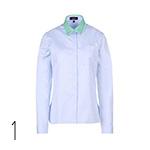camicia azzurra Con colletto a contrasto, Giuliano Fujiwara shoporama.it