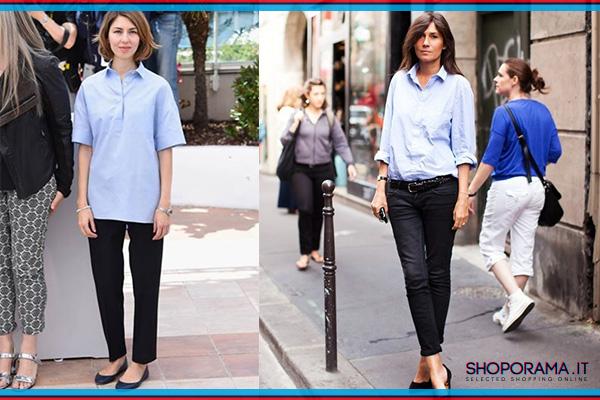 Sofia Coppola Emmanuelle Alt camicia azzurra bobos.it shoporama.it