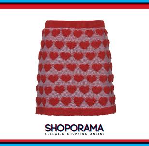 Gonna lavorata a maglia, Topshop con cuori fun fashion shoporama.it bobos.it