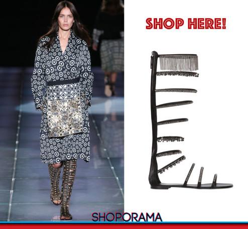 Fausto Puglisi, Giuseppe Zanotti Design,gladiators, sandali,shoes,borchie,shoporama, eshop,