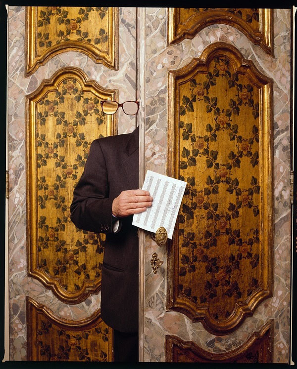 Ennio Morricone, Rome, 1998 - photo by Guido Harari