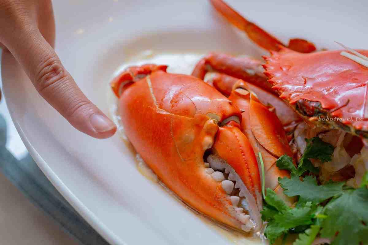 珍寶海鮮花雕蛋白蒸螃蟹