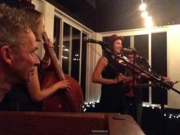 Bob Paltrow, Bekah Zachritz, Kelly Holmes and Warren Meier @ Ott & Murphy's Winery Tasting Room, Langley WA, 10.10.2014