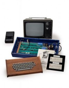 A fully operational Apple computer that Steve Jobs sold is seen in this undated handout picture courtesy of Christie's