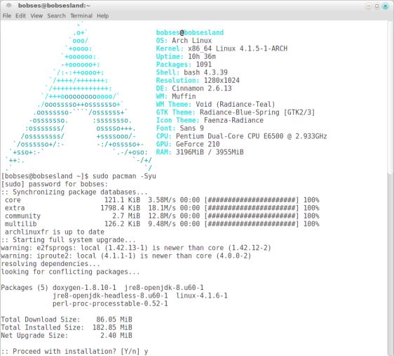 actualizare-sistem-arch-linux