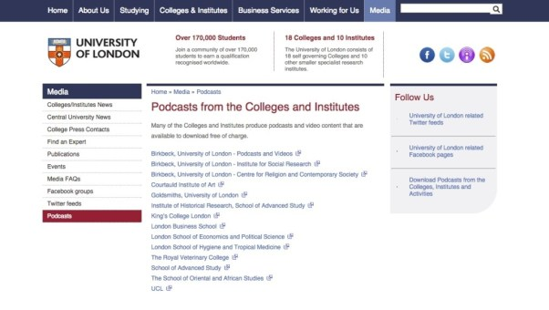 university-london-podcasts