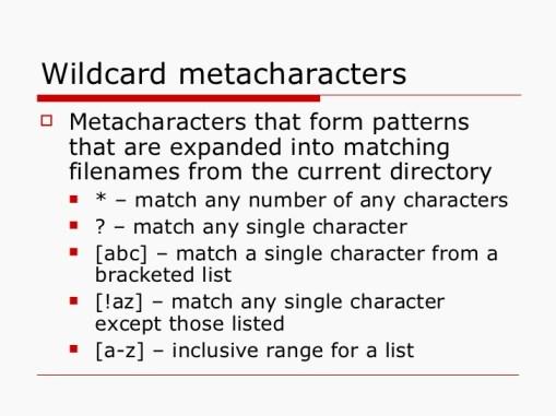 wildcards-metacaractere