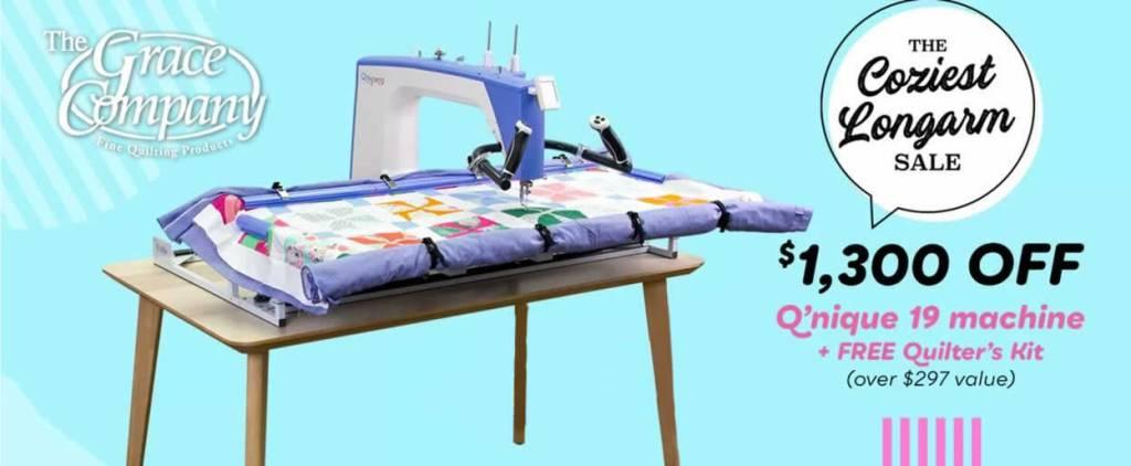 Grace Q'nique 19 Quilting Machine March Sale