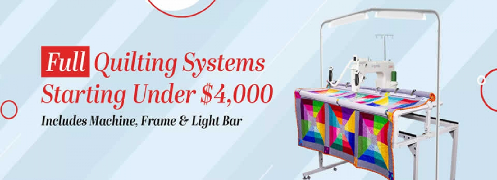Grace Company Quilting Systems under $4,000
