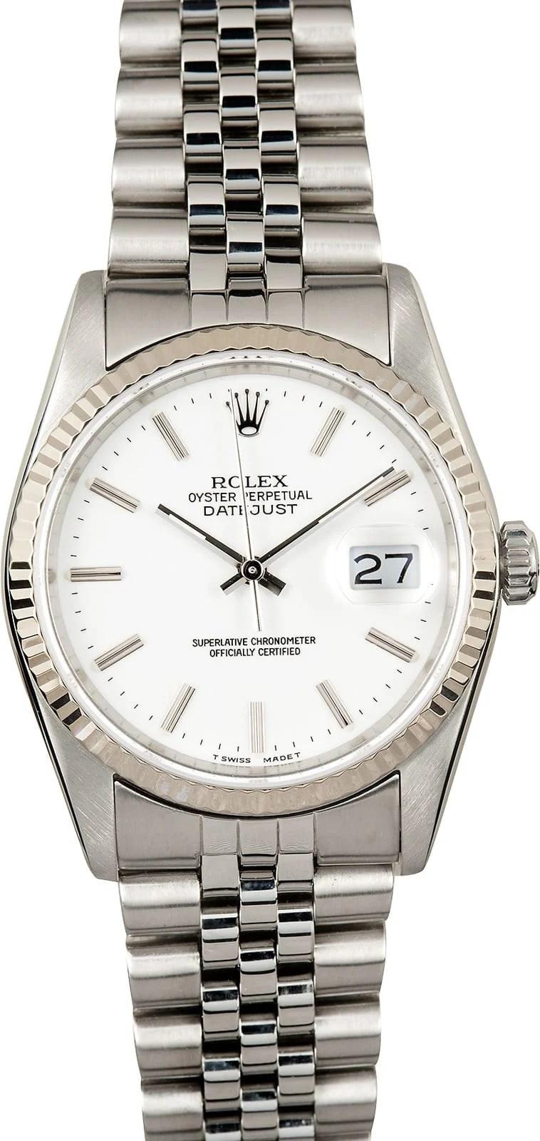 Rolex Datejust 16234 White Dial