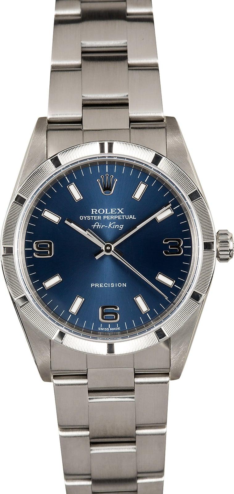 Rolex Air King 14010 Blue Dial