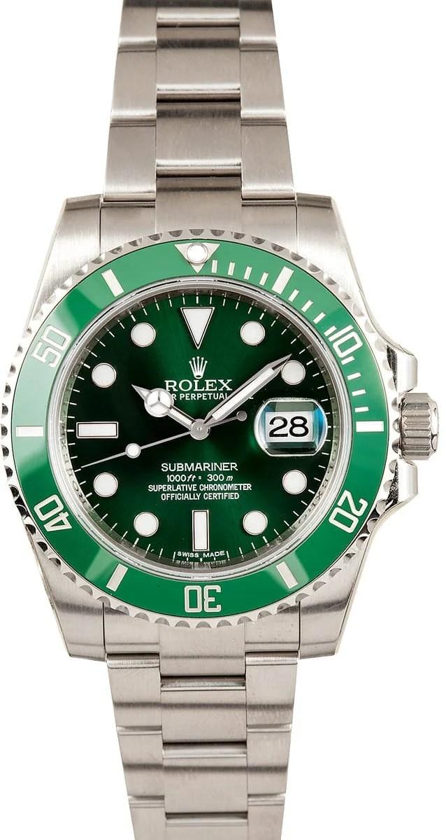 Rolex Submariner Green Dial Steel 116610 Save 1000