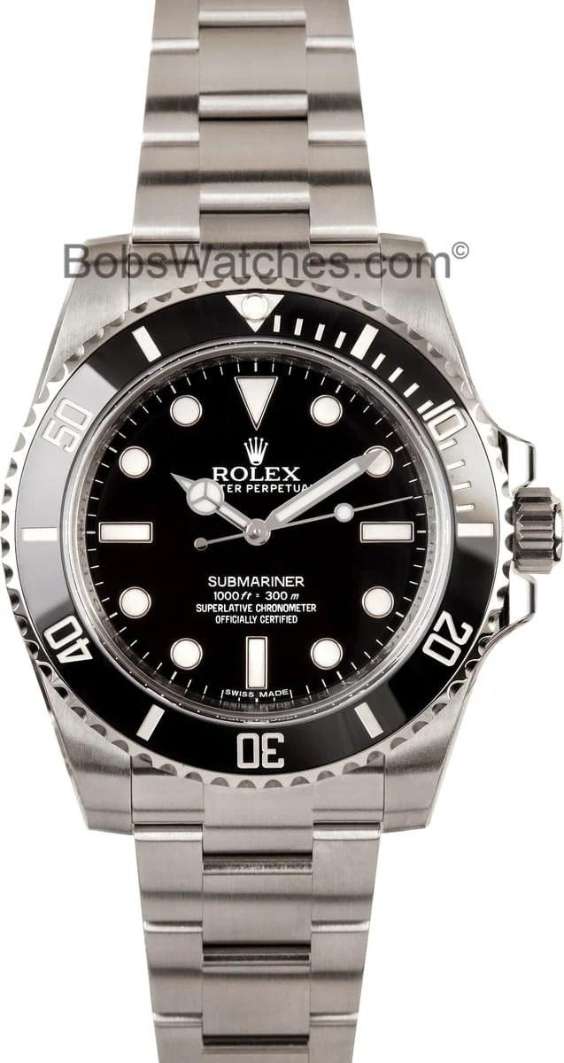 Rolex Submariner No Date 100 Authentic Rolex At Bobs