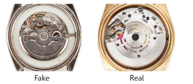 real vs fake rolex movements - Bob's Watches