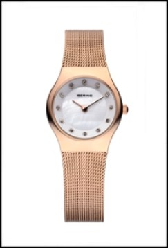 Women's Being watch in gold with mesh band