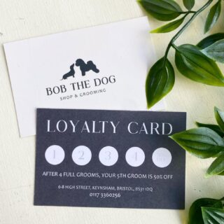 Our loyalty scheme is changing 🤩 After 4 full grooms with us receive 50% off your 5th groom as a thank you for your loyalty ❤️ Ask at our till to join our loyalty scheme and receive one of our loyalty cards 💳 *This scheme is for full grooms only. If you are still within our last scheme you will have the choice to finish your previous card or start a new one*🐾
