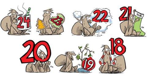 Bob the Squirrel Christmas Countdown... 24-18